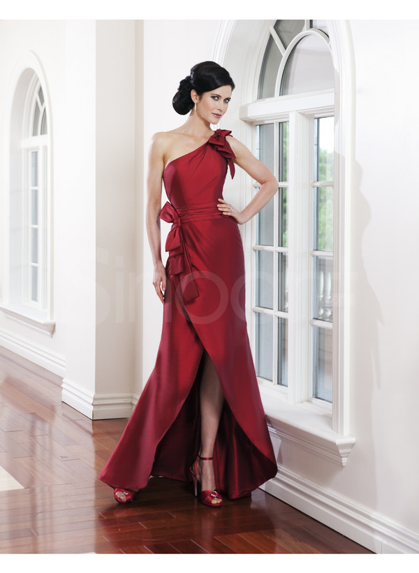 dress one-shoulder dress bowknot fit for prom and evening party long evening dress