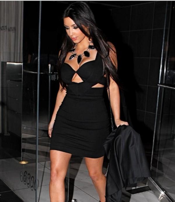 dress kim kardashian little black dress