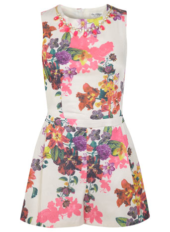 Floral Trim Playsuit - We Love - Clothing - Miss Selfridge