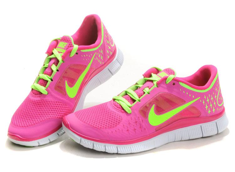 2013 Nike Free Run  3 Womens Rose Green Shoes