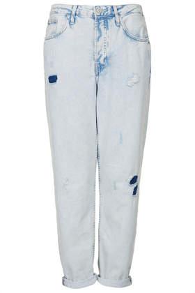 MOTO Extracted Bleach Wash Hayden Jeans - Topshop