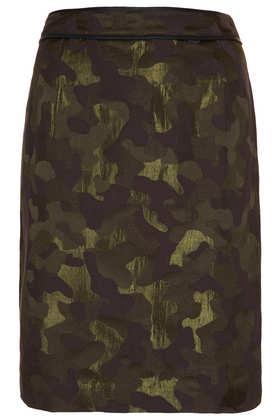 Camo Jacquard Pencil Skirt - Pencil Skirts - Skirts  - Clothing - Topshop