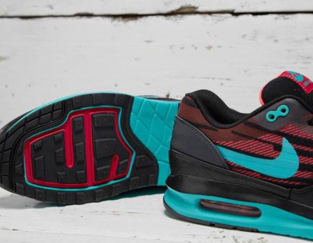 shoes nike air max red black turquoise
