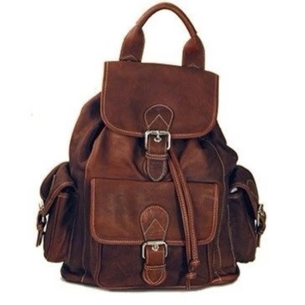 bag brown leather rucksack backpack
