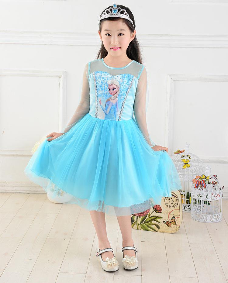 Солнце новый фильм косплей платье летом платье для девочки костюм принцесса эльза платье, принадлежащий категории Платья и относящийся к Одежда и аксессуары на сайте AliExpress.com