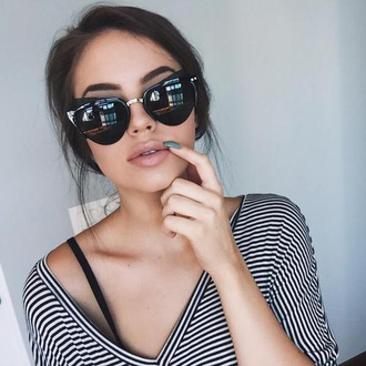 sunglasses black large summer vintage