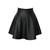 Wholesale Vintage Zipper Up Flouncing Solid Color PU Leather Skirt For Women (BLACK,L), Skirts - Rosewholesale.com