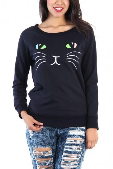 OMG Kitten Sweatshirts - Navy