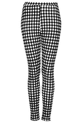 Gingham Flocked Treggings - View All Sale - Sale & Offers - Topshop
