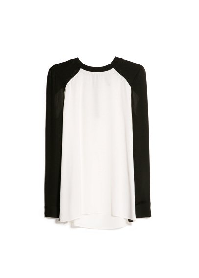 monochrome blouse