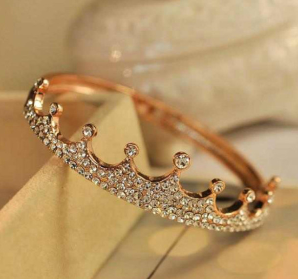 Greatest jewels, blouse, rose gold ring, princess ring, tiara ring, tiara  KN04