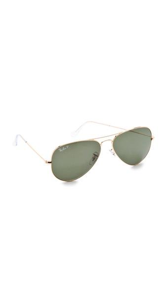 Ray-Ban Polarized Aviator Sunglasses | SHOPBOP