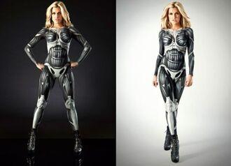 pants bodysuit cyborg robot costume