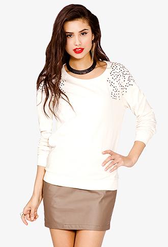 Studded Shoulder Sweatshirt | FOREVER21 - 2025012918