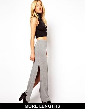 ASOS   ASOS Maxi Skirt with Splits at ASOS