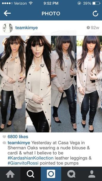 coat kim kardashian beige