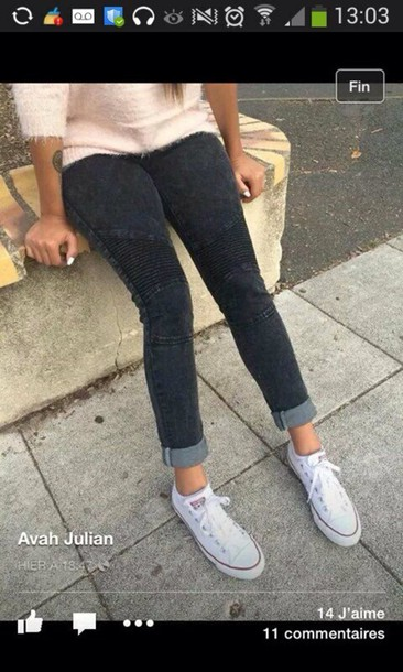 jeans grey jeans sweater