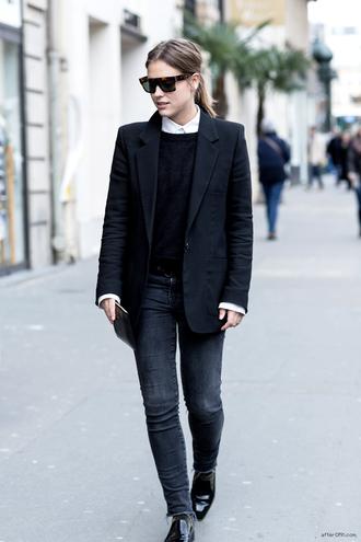 after drk jacket sweater shirt jeans shoes sunglasses bag