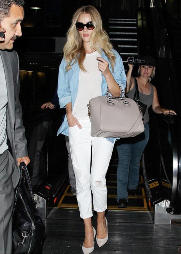 rosie huntington-whiteley pants shirt shoes