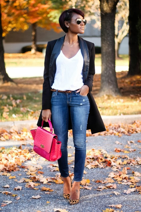 the daileigh coat jeans sunglasses shoes bag