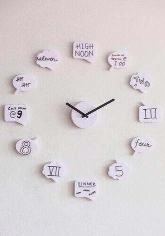 home accessory clock quote on it funny