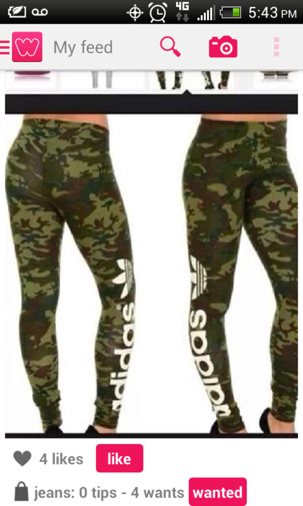 pants cute camouflage camo pants adidas tights green verde white high waisted jeans crystal westbrooks tufted