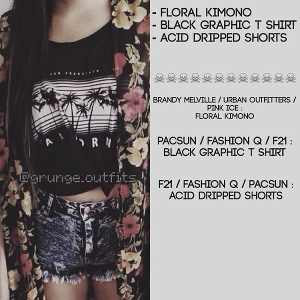 shirt brand forever 21 black graphic t shirt shorts