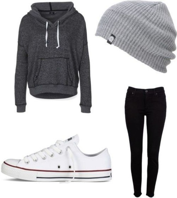 sweater winter sweater grey sweater hat jacket grey beanie blouse grey hoodie beanie gray sweaters grey sweater top jeans charcoal loose shirt swimwear shoes converse pull string gray hoodie dark gray sweater fall outfits fashion fall sweater fall jacket head apparel tights black jeans dark gray sweatshirt i need this help