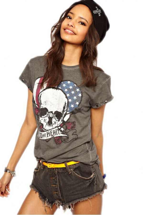 t-shirt kcloth retro skul retro t shirt skull t-shirt
