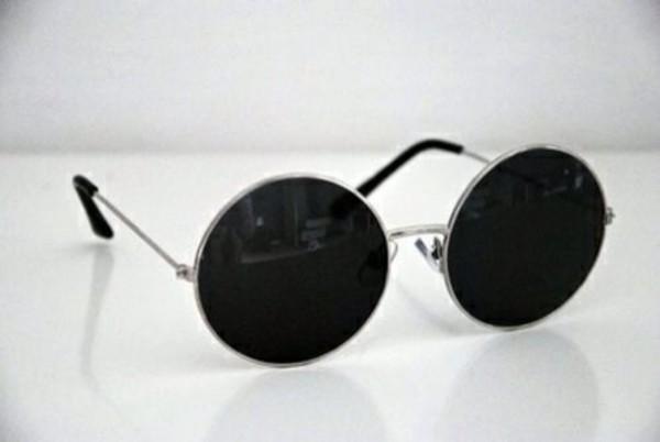 sunglasses black and white round sunglasses
