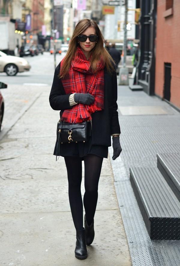 vogue haus sweater coat skirt shoes bag sunglasses scarf