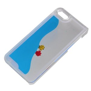 Amazon.com: Easygoby Creative Design Free Flowing Liquid Swimming Fish Clear Hard Case For Apple iphone 5 5S (Blue): Cell Phones & Accessories