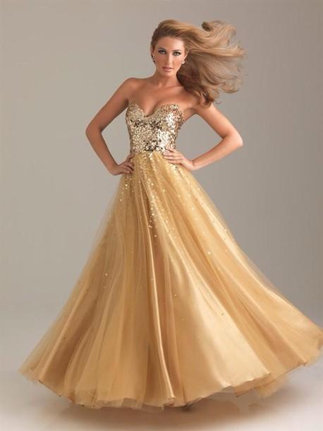 dress gold dress long prom dress prom dress