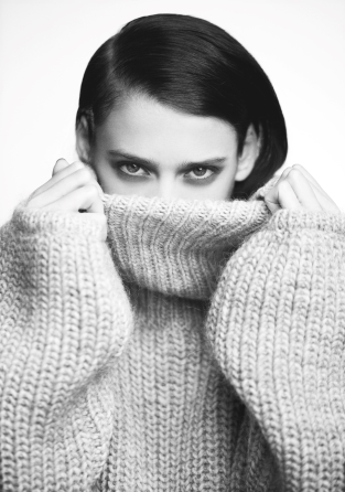 Wool sweater w/ polo neck   Wool sweater w/ polo neck   & Other Stories