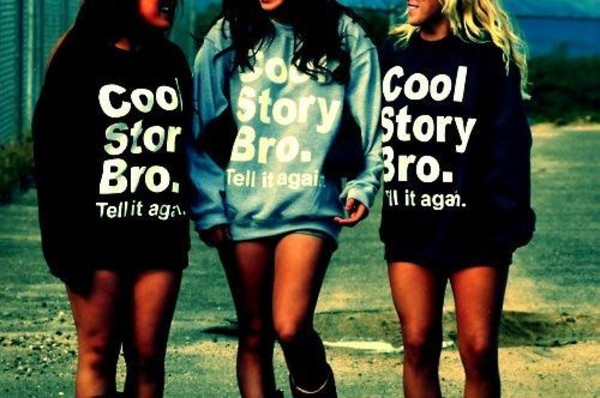 sweater cool story bro hipster cool girl