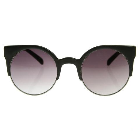 Super Round Cat Eye Indie Sunglasses 8524                           | zeroUV
