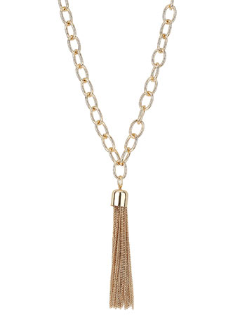 Chain Tassel Lariat Necklace - Necklaces - Jewellery  - Accessories - Miss Selfridge