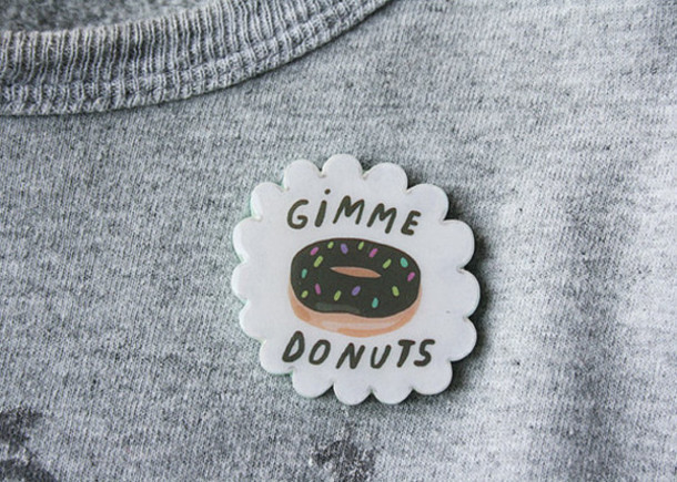 jewels donut lovely pin sprinkles gimme doughnuts