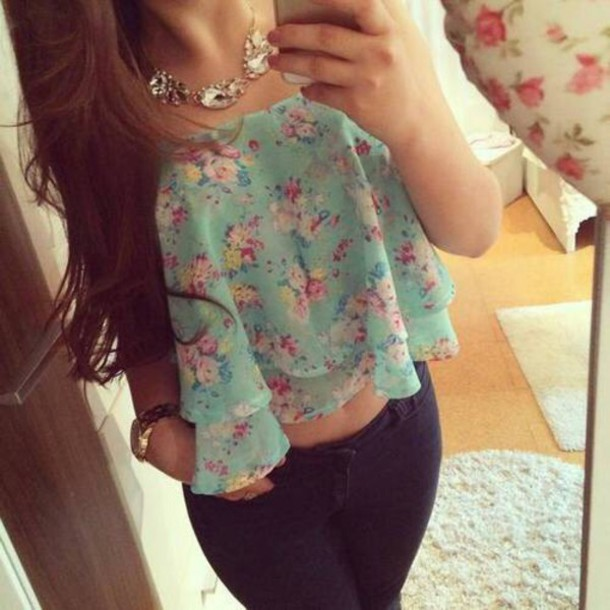 top blouse shirt tank top floral tank top fashion clothes