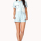 Bejeweled chambray romper | forever 21 - 2043015351