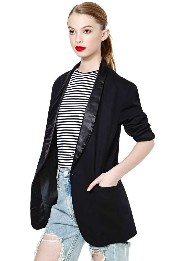 Alma Tuxedo Jacket at Nasty Gal