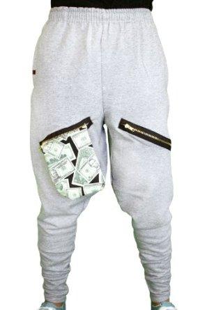 Amazon.com: ChachiMomma Pants Grey Black X-Large: Clothing