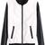 ROMWE | Color Block Zippered Elastic Black-white Jacket, The Latest Street Fashion