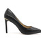 3 inch office pumps - classic black low heels