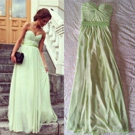 WowDresses — Adorable Sage A-line Sweetheart Floor Length Prom Dress 2013