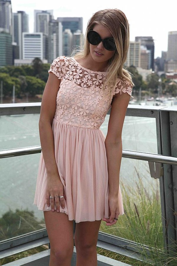 dress pink pink dress flowers floral lace dress lace pink lace dress