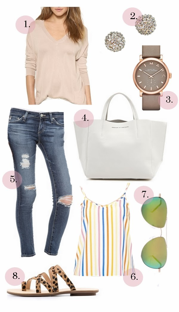 hello fashion sweater jewels bag jeans tank top shoes
