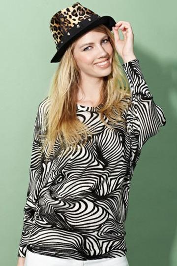Moonbasa Leisure Zebra Patterns T-shirt [FCBI00403]- US$ 27.99 - PersunMall.com