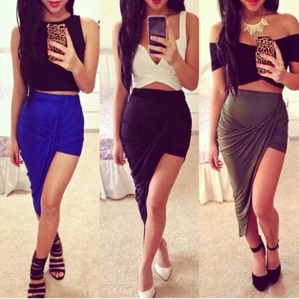 dress top skirt blue skirt