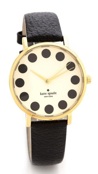 Kate Spade New York Metro Black Dot Watch |SHOPBOP | Save up to 25% Use Code BIGEVENT13